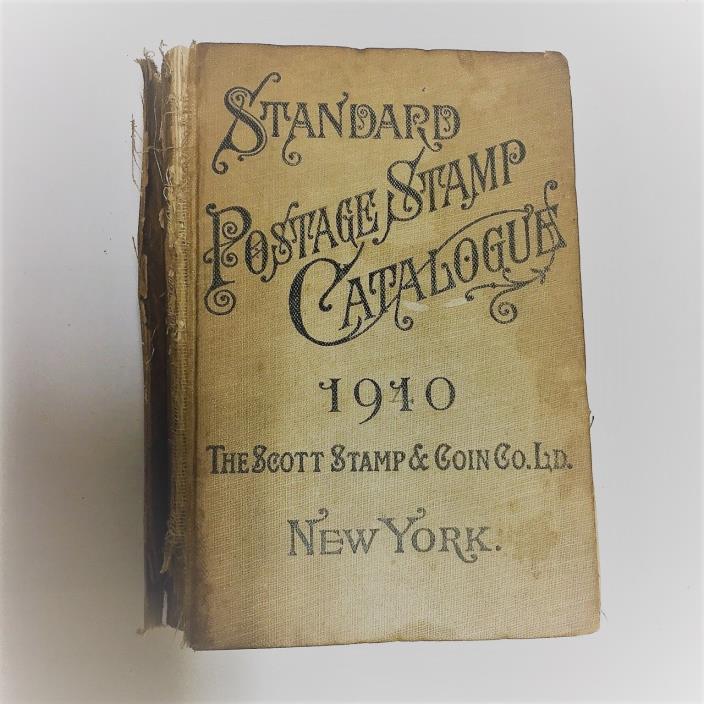 Vintage 1910 Scott's Postage Stamp Catalogue (catalog)