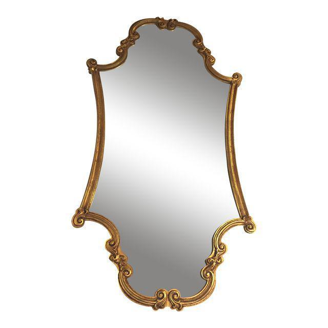 Two Art Deco Gold Leaf Mirror