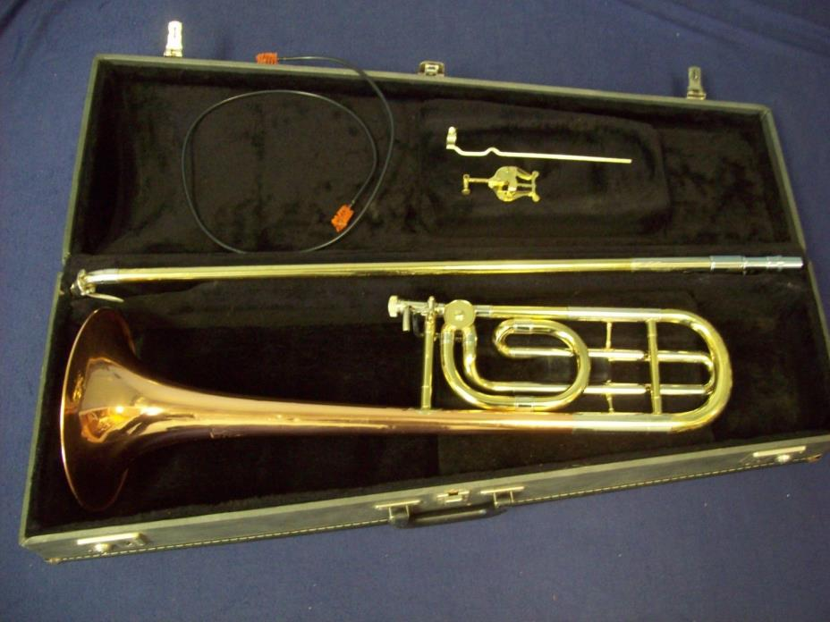 ACCORD B-88 (REBADGED BLESSING) F TRIGGER TROMBONE + CASE, COPPER BELL, U.S.A.