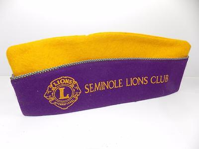 VINTAGE LIONS CLUB FELT HAT --SEMINOLE PENNSYLVANIA