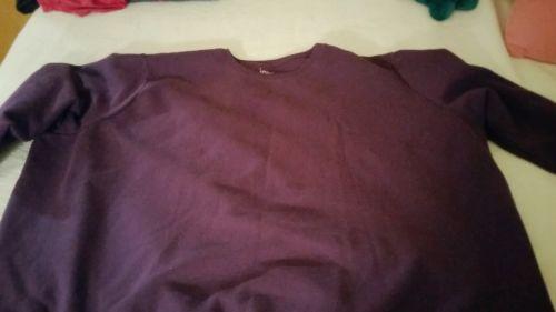 Womens Plus Size 5X Just My Size Purple Sweatshirt