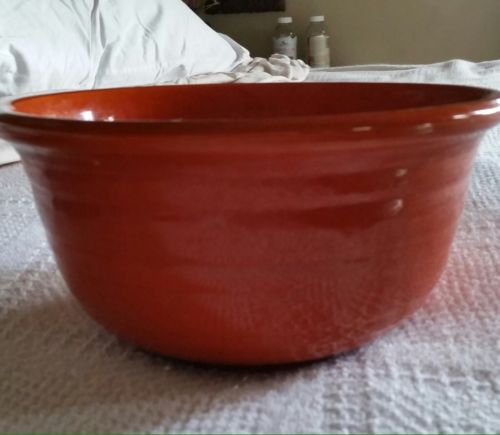 Ceramic Bright Orange Mixing bowl Perfect With Rings 9