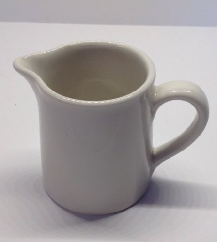 Vintage HALL Small White  CREAM/ SYRUP PITCHER  3