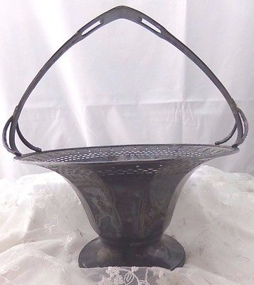 Vintage Wallace Silver Plate Brides Basket Pretty Numbered on Bottom
