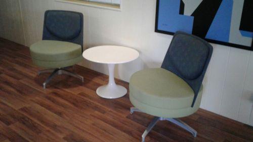 Retro designer steelcase contemporary chairs 'pair'