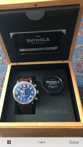Men's Shinola The Runwell 41mm Chrono Argonite 5021 Watch