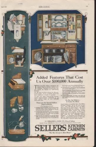 1920 SELLERS KITCHEN CABINETS FURNITURE ELWOOD IN HOME 7230