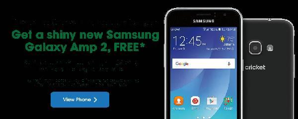 Switch your number to Cricket Wireless and get the Samsung Galaxy Amp 2 for...