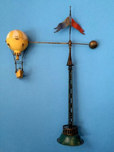 Balloon Ride, Toy Handpaintedsheet Metal/Tin, 45.5 cm. Made In Germany/1920s