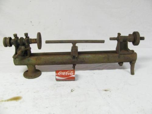 Rare Antique UND Machinist Metal Lathe Jewelers Small Lathe