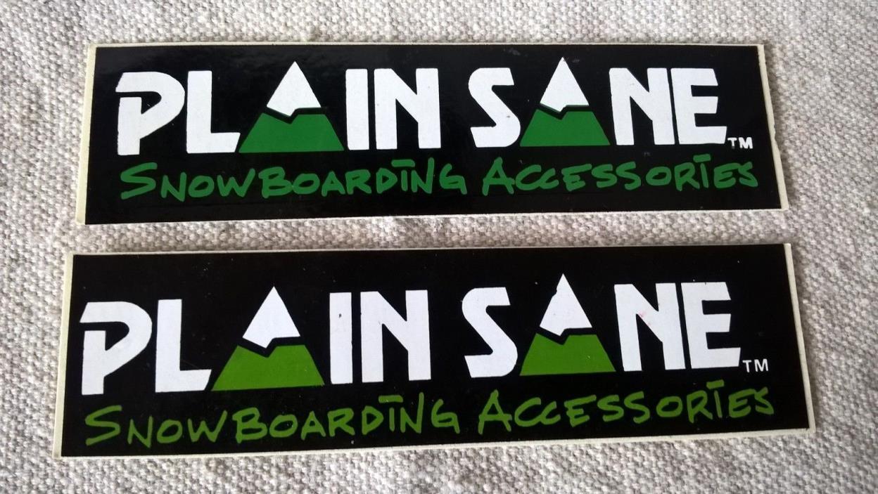 2  PLAIN SANE Snowboarding accessories stickers decals