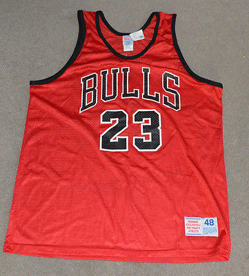 NWT Michael Jordan Chicago Bulls Hanes NBA Basketball Jersey 48 XL Deadstock