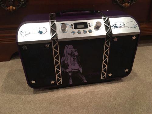 Disney Hanna Montana CD Player Boombox w/ AM/FM Radio AC/DC Powered Purple