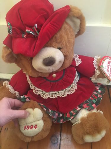 1994 Teddy Bear Lane Christmas Bear 20