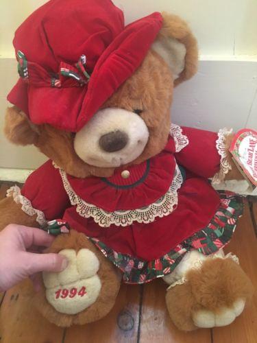 1994 Teddy Bear Lane Christmas Bear 20