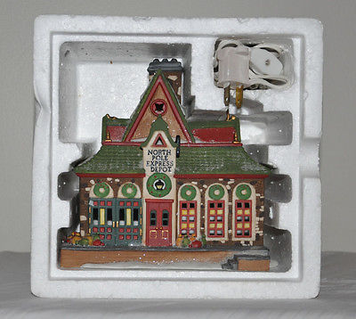 Department 56 North Pole Series North Pole Express Depot #5627-8