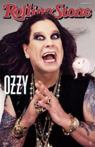 Ozzy Osbourne Rolling Stone Rare  Poster