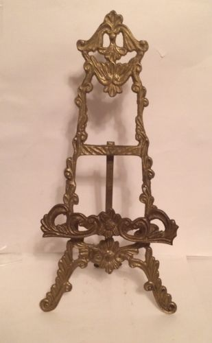 Solid Brass Victorian Style Display Easel 12