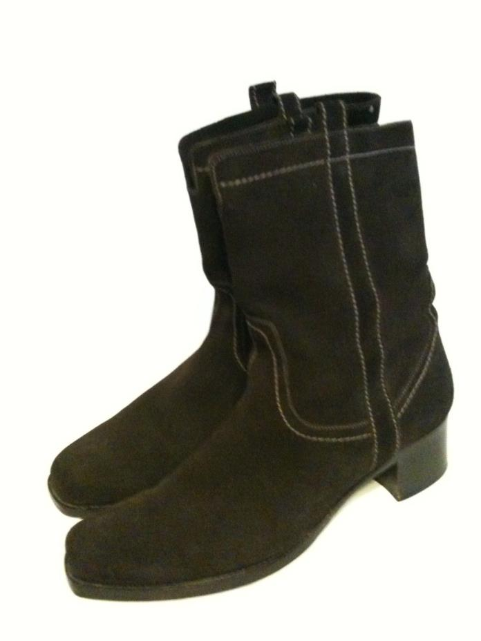 LA   CANADIENNE   WOMEN'S   BROWN   LEATHER   MID   CALF   BOOTS   SIZE   11