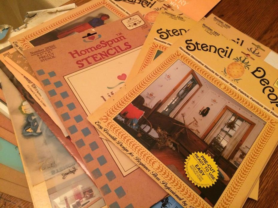 Huge Lot of Stencils for Quilts & Home Decor in Packages & Loose