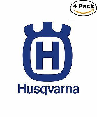 Husqvarna Chainsaws Lawn Mowers Tractors Decal Diecut Sticker 4 Stickers