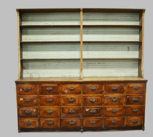 Monumental Antique General Store Apothecary Cabinet