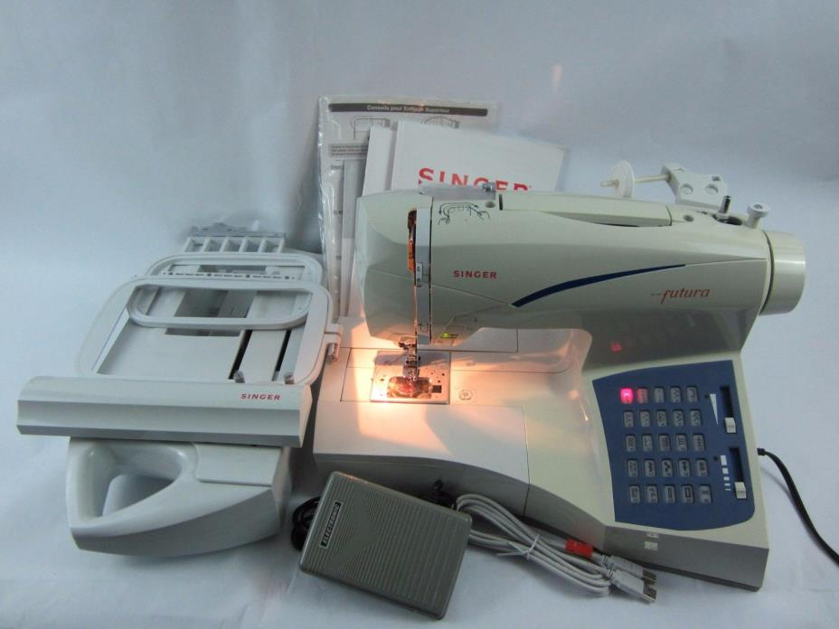 Singer CE-100 Futura Computerized Sewing Embroidery Machine UNTESTED AS IS