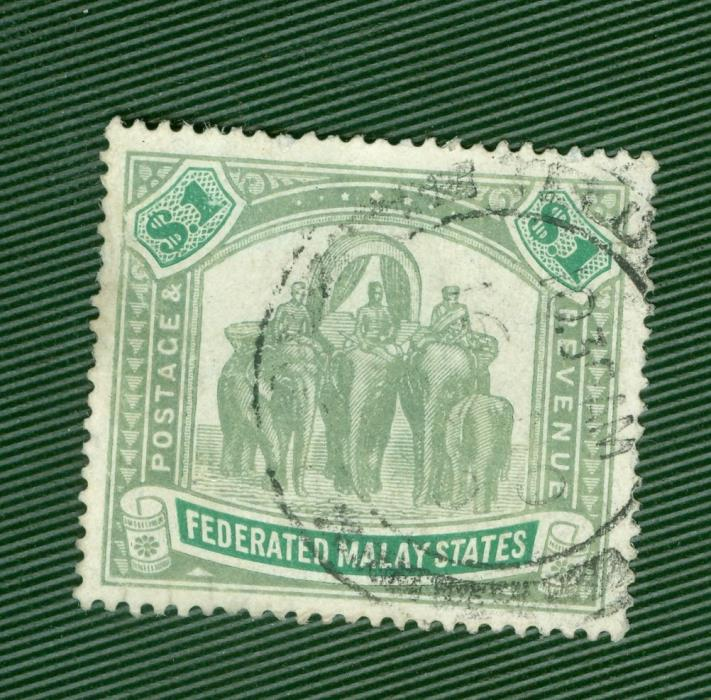 MALAYA FMS SG 48 USED with circular date stamoFEDERATED MALAY STATES
