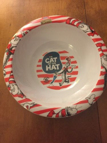 CAT IN THE HAT Bowl Kraft Macaroni & Cheese PROMO Plastic Melamine Cereal Bowl