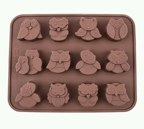 Owl Silicone Mold Chocolate Candy Ice Cube Cake Fondant Party