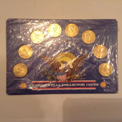 1992 Shell Gas Presidential Collector Coins Set of 8