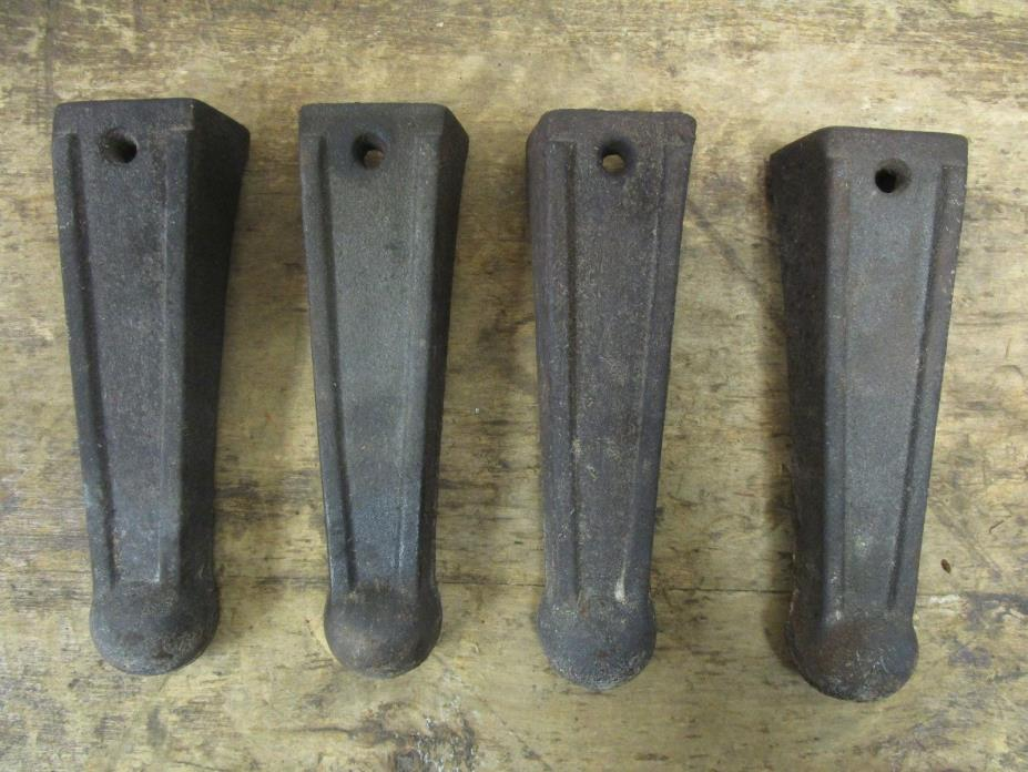 Antique Set of 4 Cast Iron Washing Machine Table Legs Feet