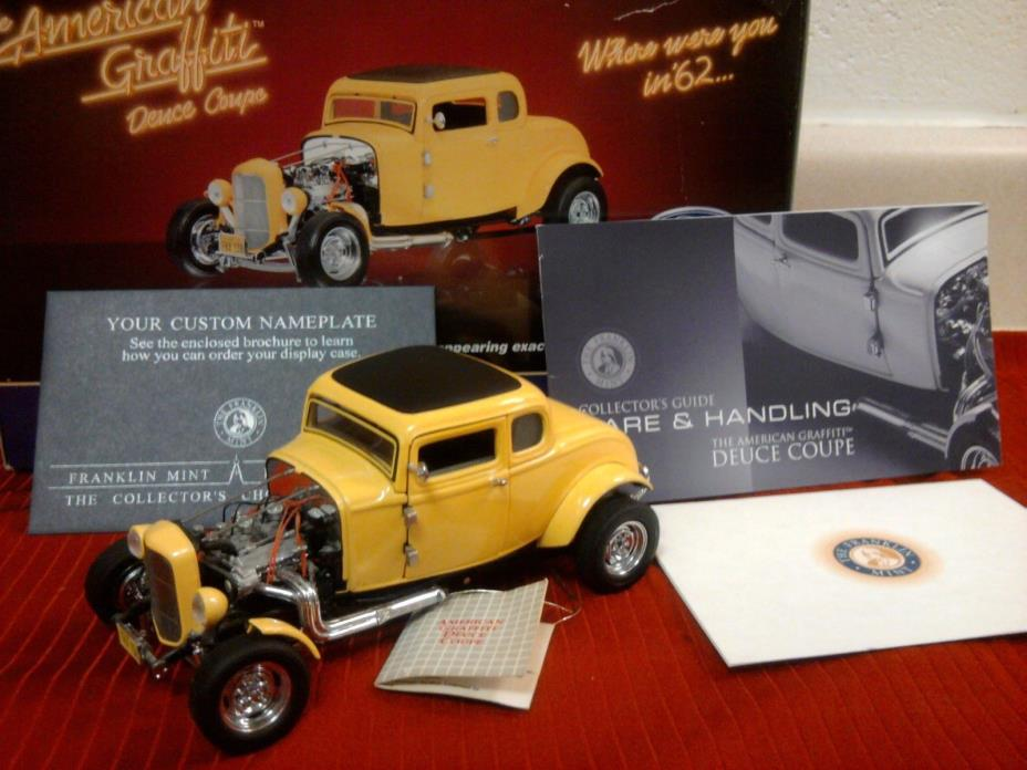 FRANKLIN MINT 1932 FORD AMERICAN GRAFFITI DEUCE COUPE..1:24..MIB..RARE AND MINT