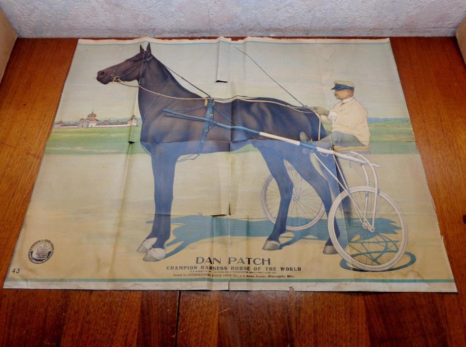 DAN PATCH HARNESS RACE HORSE SAVAGE MINNESOTA FEED ADVERTISING