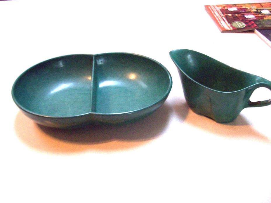 Vintage Melmac Green 2 pcs
