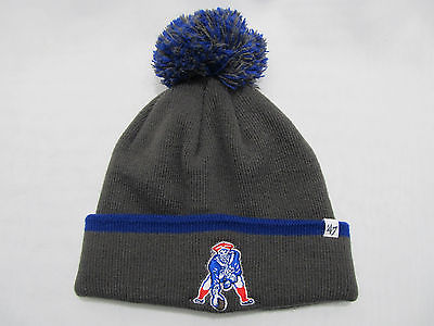 New England Patriots Cuffed Knit Pom Hat 47 Brand Winter Hat Beanie One Size NEW