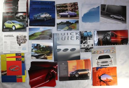 37 piece Lot Vintage Car Catalogs brochures pamphlets 2000s NEW OLD STOCK