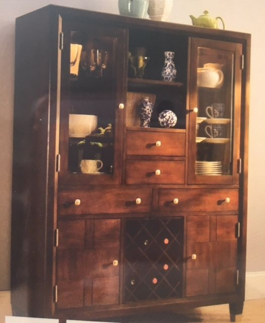 Raymour and Flanigan china cabinet