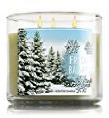 Bath and Body Work 3-Wick Candle Fresh Balsam Home Indoor Living Room Decoration