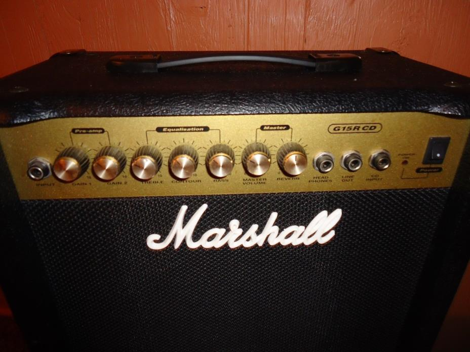 Marshall G15RCD Combo Amp,Double Gain Preamp,Tape/CD Input,Ex. Cond.