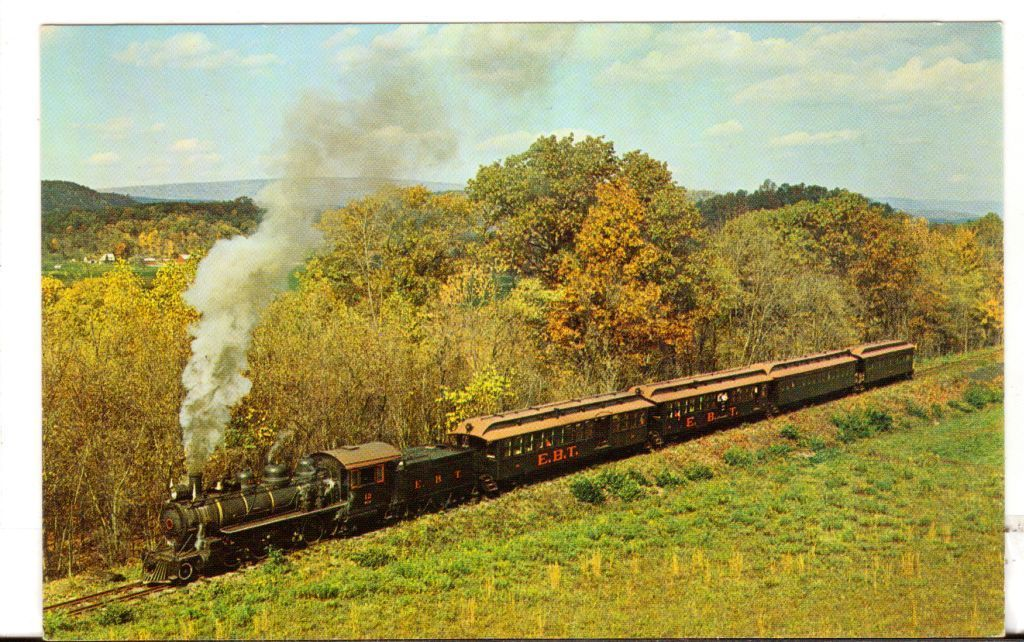 Undated Unused Postcard East Broad Top Railroad Rockhill Furnace PA Locomotive