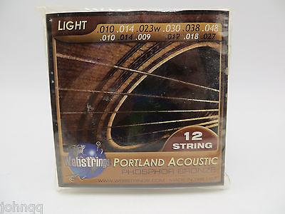 Portland Acoustic Phosphor Bronze 12 String Acoustic Guitar Strings Webstrings