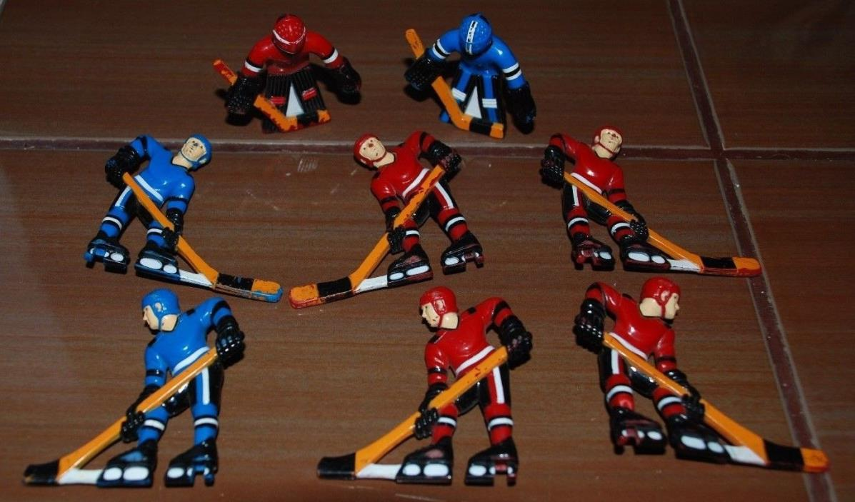 Vintage table hockey - Vintage Toys Lot Replacement Parts Hockey Players W Stick Plastic Hockey Table