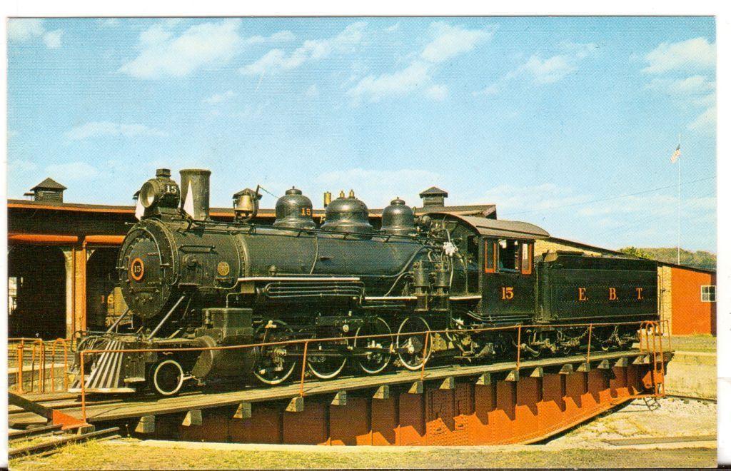 Undated Unused Postcard East Broad Top Railroad Rockhill Furnace PA Engine 15