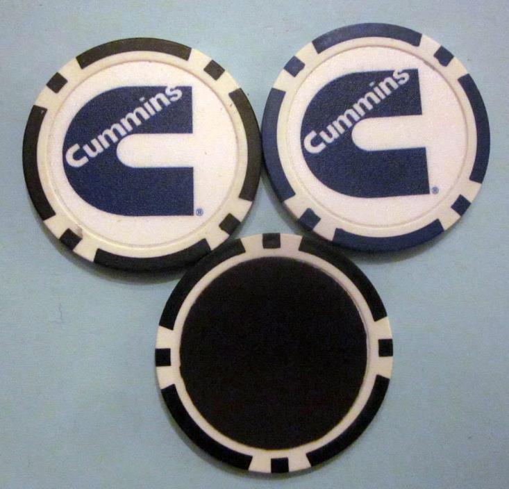 LOT of 2 Dodge Cummins Diesel Truck Poker Chip Magnets Handmade