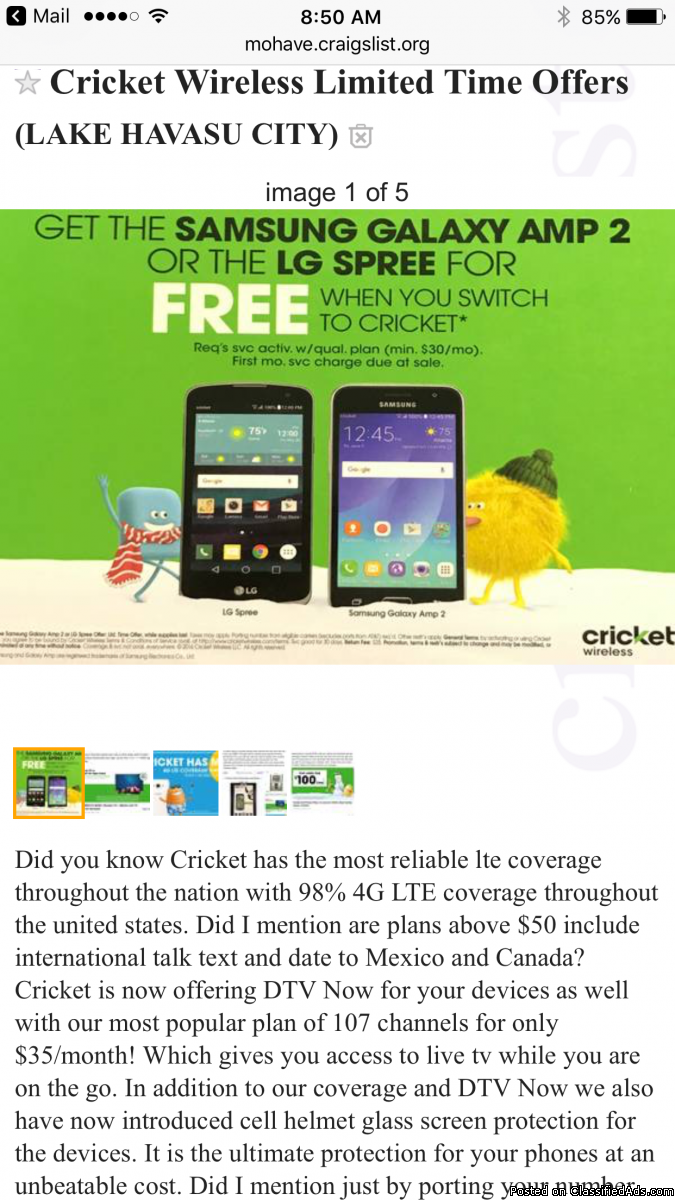 Free Smartphones From Cricket!!!