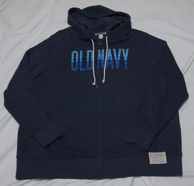 Old Navy Zip Up Hooded Sweatshirt sz 2X