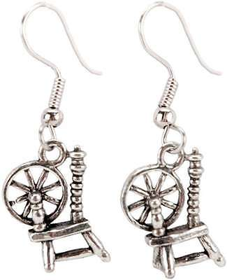 Charming Accents French Wire Earrings-Spinning Wheel 873132002880