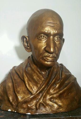Mahatma Gandhi life size plaster bust Nijel Binns