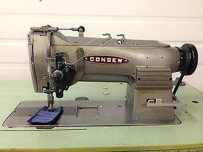 CONSEW  327R 2 NDL SPLIT BAR 1/4  REVERSE 110V  INDUSTRIAL SEWING MACHINE